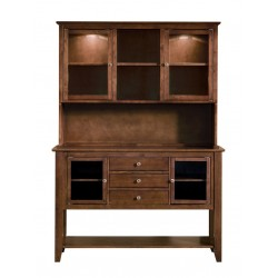 Cosmopolitan Hutch with Server: Espresso
