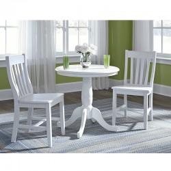 Hampton 3 PCS Dinette Set in Pure White