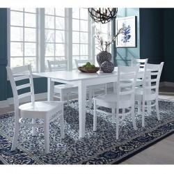 Hampton 7 PCS Dining Set in Pure White