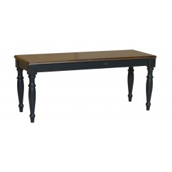 "Bridgeport 42"" wide Bench: Aged Ebony and Espresso"