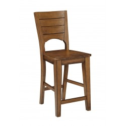 "Canyon 24"" Full Stool- Pecan Finish"