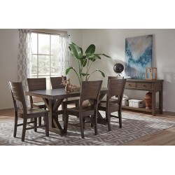 Canyon Solid Top dining set - Graphite Finish
