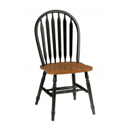 Madison Park Arrowback Chair - Black and Cherry Finish