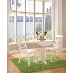"""Simply Linen 36"""" Drop Leaf Table and 2 Chairs"""