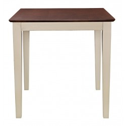 "30"" Square Top Table with 36"" high shaker legs: Almond and Espresso"