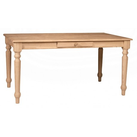 Solid Top Farm House Table 36x60