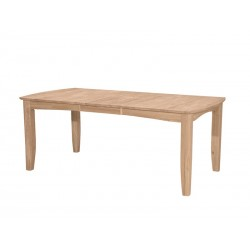 Bow End Shaker Leg Table 40x60x78
