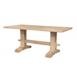 Trestle Table with Self Storing Leaf 40x66x84