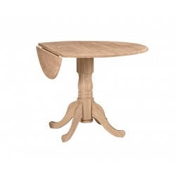 Dropleaf Pedestal Table 42x24x42