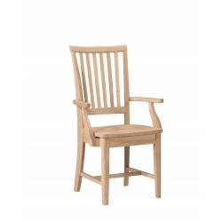 Mission Arm Chair with Wood Seat