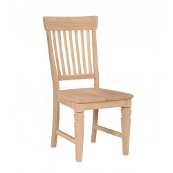 Tall Java Chair with Wood Seat