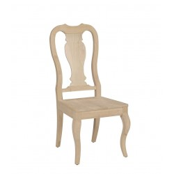 Queen Anne Chair with Wood Seat