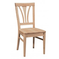 Fanback Chair with wood seat