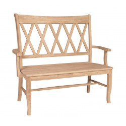 "XX Back Bench with Arm 42"" Wide"