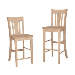 San Remo Stools with Wood Seat