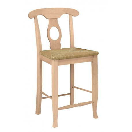 Empire Stool with Rush Seat