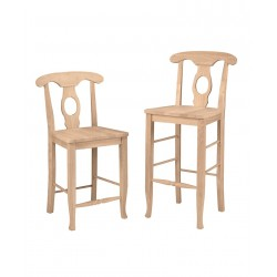 Empire Stool with Wood Seat