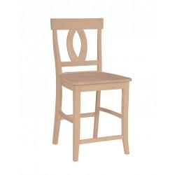 Verona Stool with Wood Seat
