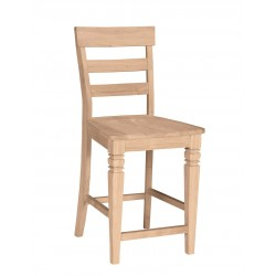 Java Stool with Wood Seat