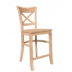 Charlotte Stool with Wood Seat