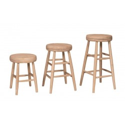 Scoop Seat Swivel Stool (Built)