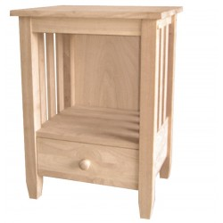 Mission End Table with a Drawer (RTA)