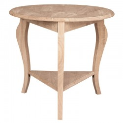 Cambria Round Dropleaf Accent Table