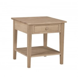 Bedside Table with A drawer and a Shelf