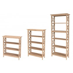 "X-Sided Bookcases, 30"" Wide and 36"",48"",72"" High"