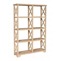 "X-Side Room Divider (47"" Wide Bookcase)"