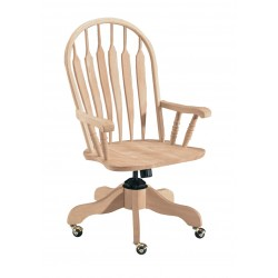Deluxe Steambent Windsor Desk Chair with Arm