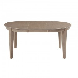 Cosmopolitan Oval pedestal table - Weathered Gray