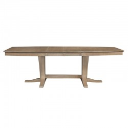 Cosmopolitan Milano Double Butterfly Extension Table - Weathered Gray