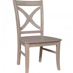 Cosmopolitan Salemo Cross Back Chair : Weathered Gray