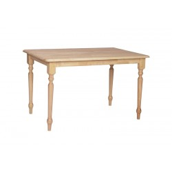 30x48 Turned leg dining table
