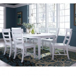 Hampton Oval Butterfly Extension Table in Pure White
