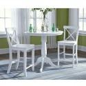 "Hampton 3 PCS 36"" High Dinette Set in  pure white"