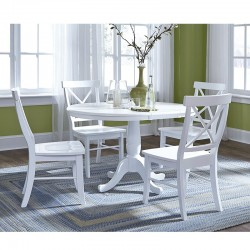 Hampton 5 PCS Dining Set in Pure White