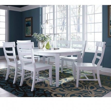 Hampton 7 PCS Round Dining Set
