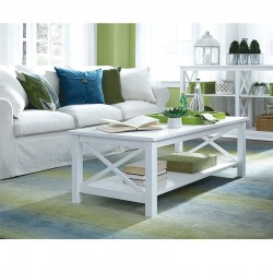 Hampton Coffee Table in Pure White