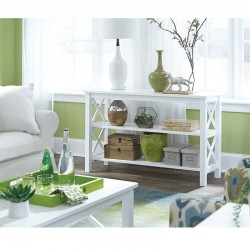 Hampton Sofa Table in Pure White