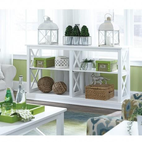 """Hampton 60"""" Wide Sofa Table in Pure White"""