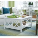 Hampton Square Coffee Table in Pure White