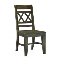 Canyon Double Cross Back Chair - Graphite Finish