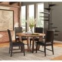 5 PCS Modern Rustic Round Dining Set
