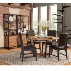 7 PCS Modern Rustic Round Dining Set