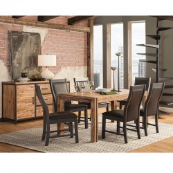 Modern Rustic 8 PCS Dining Set