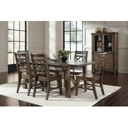Canyon Extension Dining Set - Graphite Finish
