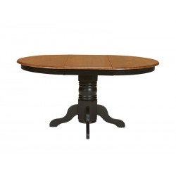 Madison Park Pedestal Table - Black and Cherry Finish