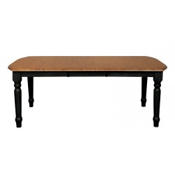 Madison Park Extension Table - Black and Cherry Finish